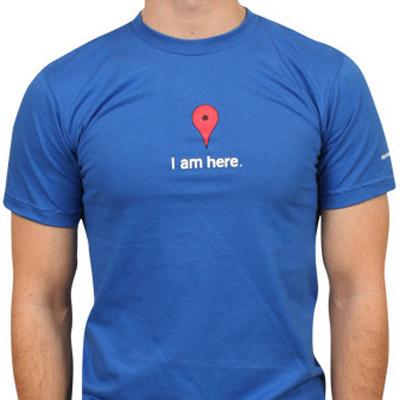 Google Maps tshirt