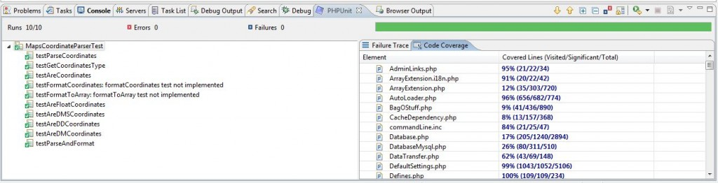 PHPUnit integration with Zend Studio