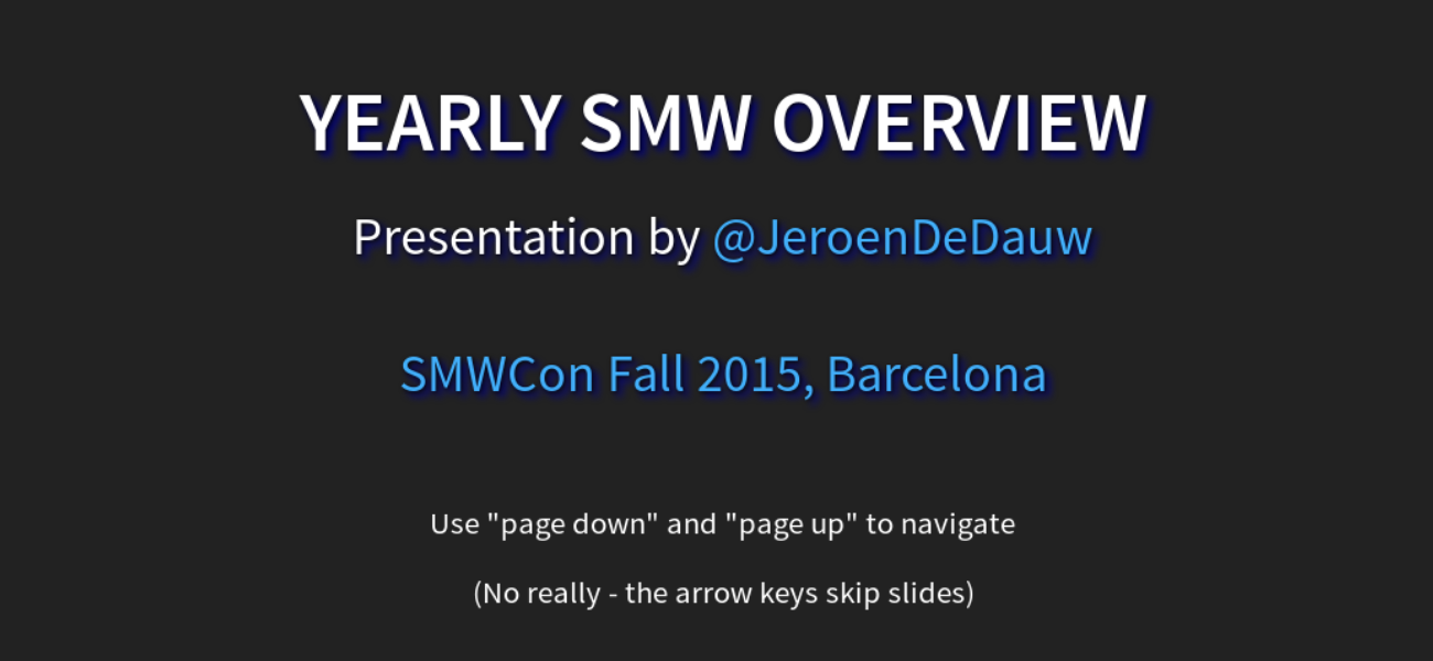 Yearly SMW overview 2015 - slide preview